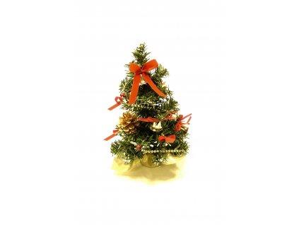 Ozdobený stromeček 20 cm - červená mašle