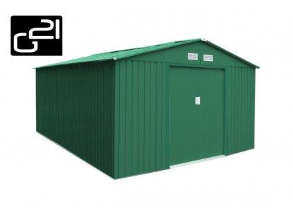 Zahradní domek na nářadí G21 - GAH 1092 - 311 x 351 cm / zelený
