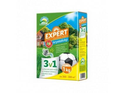 Hnojivo trávníkové - Expert 3v1 krystalický 1kg