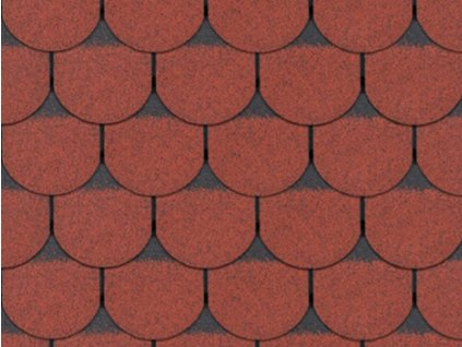 Asfaltový šindel Roofshield - bobrovka červená