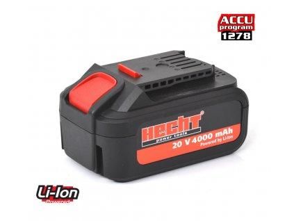 HECHT 001278B - Aku baterie 20 V Li-ion 4 Ah (program 1278)