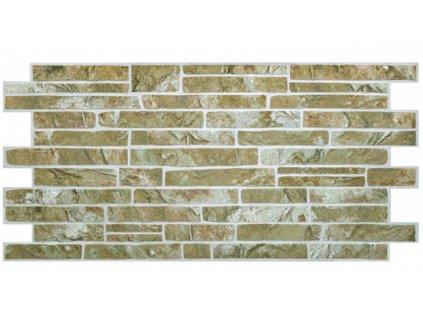Panel obkladový 3D PVC D0001 - kámen střední /  93,5 x 46,9 cm