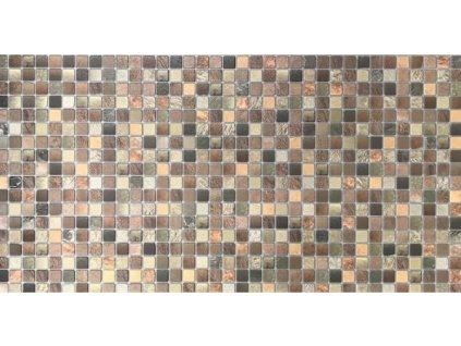 Panel obkladový 3D PVC D0014 - mozaika tmavě hnědá /  93,5 x 46,9 cm