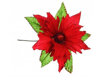 Květ dekorační, červená