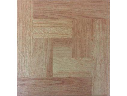 Samolepící podlahové čtverce z PVC - DŘEVĚNÉ PARKETY DF0006 - 30,4 X 30,4 CM