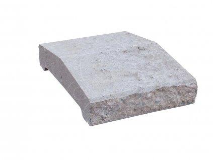 Stříška průběžná S6 - štípaný povrch šedá