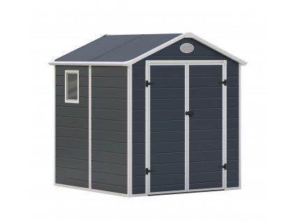 Zahradní domek na nářadí G21 - PAH 357 - 188 x 190 cm / plastový šedý