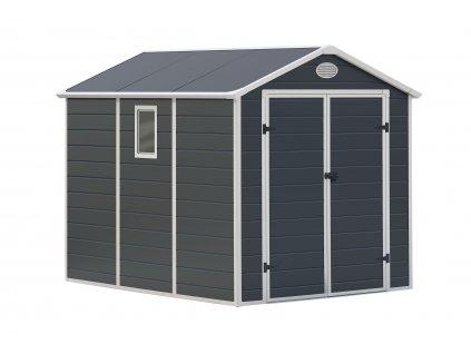 Zahradní domek na nářadí G21 - PAH 458 - 241 x 190 cm / plastový šedý