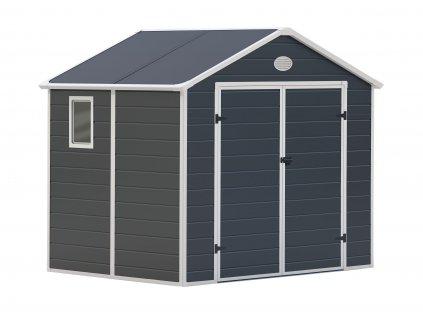 Zahradní domek na nářadí G21 - PAH 523 - 188 x 278 cm / plastový šedý