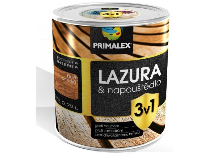 Primalex lazura & napouštědlo 3v1 - 0,75 litru