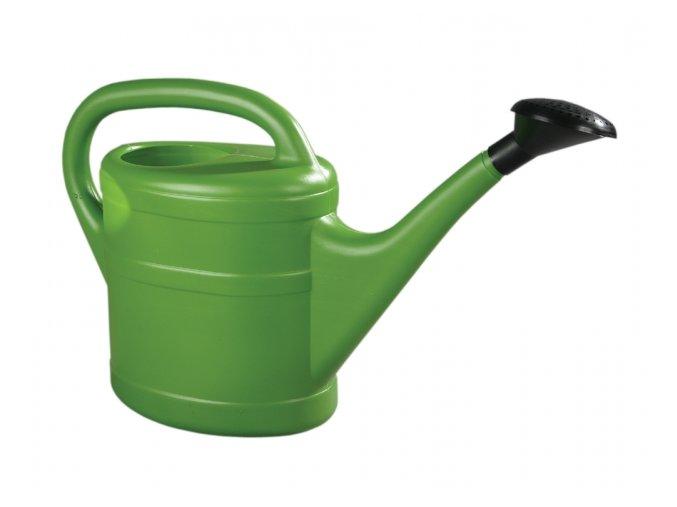 Konev s růžicí plastová - 5l - zelená