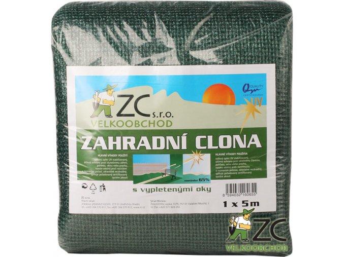 Zahradní clona - 65% zastínění, 5x1 m
