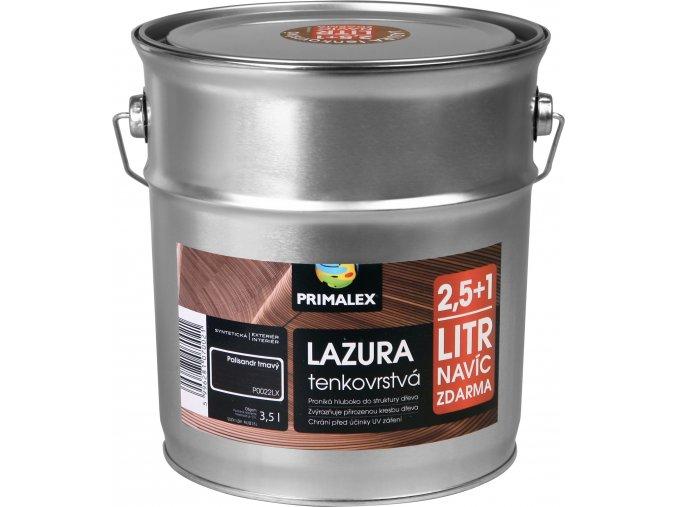 Primalex lazura tenkovrstvá - 2,5 l +1 l Palisandr