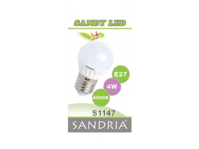 LED žárovka S1147 - E27, 4 W, 4000 K