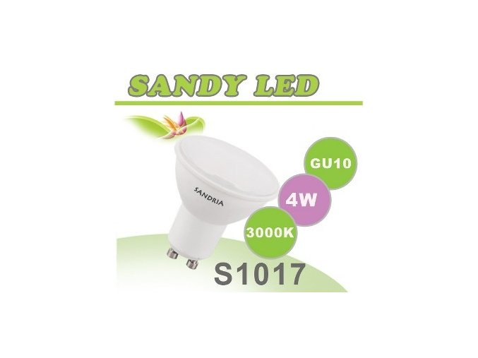 LED žárovka Sandy LED S1017 GU10 4W SMD 3000K