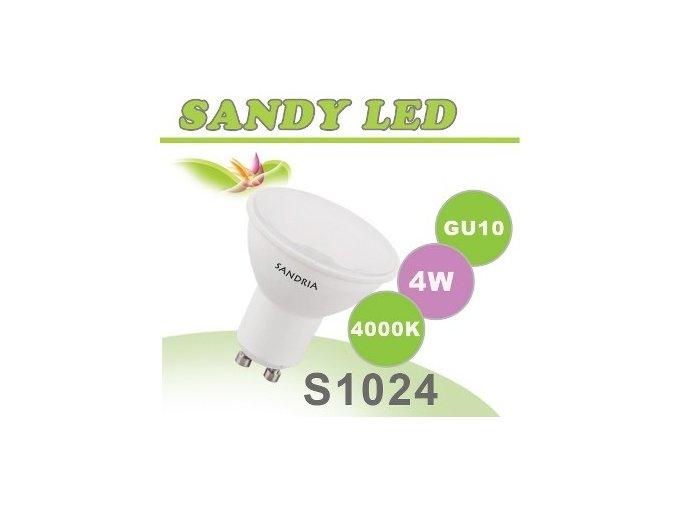 LED žárovka Sandy LED S1024 GU10 4W SMD 4000K