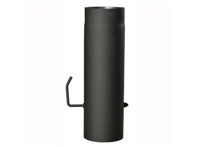 roura kouřová s klap.200mm/500 t.1,5mm ČER