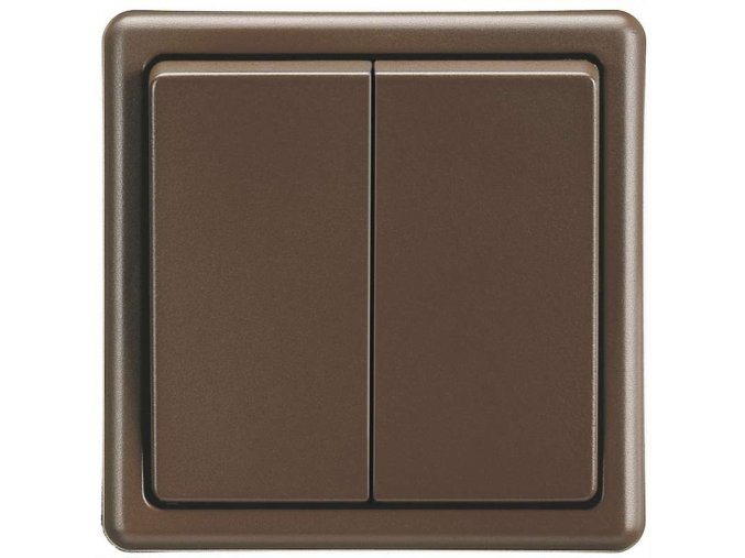 Vypínač CLASSIC dvojitý, hnědý 3553-05289 H3