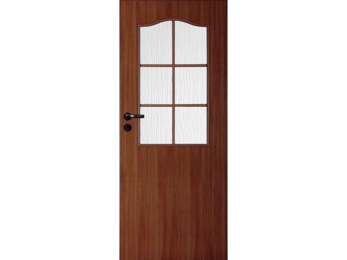 Interiérové dveře LACK 30s - Ořech (orientace Levá, šířka křídla 60cm)