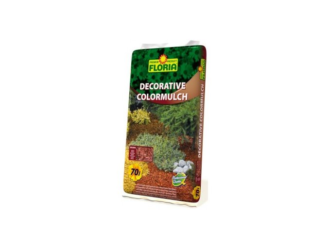 FLORIA Decorative ColorMulch HNĚDÁ 70 L