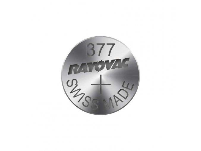 Knoflíková baterie do hodinek RAYOVAC 377 blistr