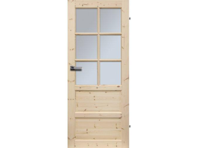Interiérové dveře ILAWA Masiv - sklo 6S - 90 cm / tvrzené sklo
