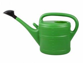 Konev s růžicí plastová - 10l - zelená