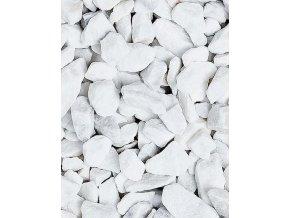 Mramor drcený Carrara 8 - 12 mm 25 kg / pytel