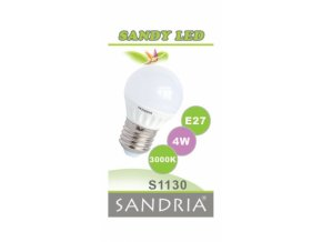 LED žárovka Sandy LED S1130 E27 4 W 3000 K