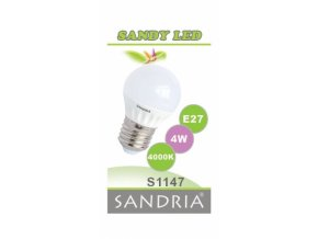 LED žárovka Sandy LED S1147 E27 4 W 4000 K