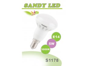 LED žárovka Sandy LED S1178 E14 R50 5W 3000K