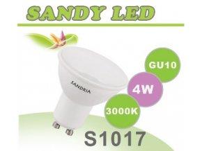 LED žárovka Sandy LED S1017 GU10 4W SMD 3000K