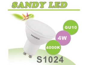 LED žárovka Sandy LED S1024 GU10 4W SMD 4000K