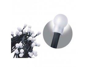 80 LED řetěz - kuličky, 8m, studená bílá, časovač