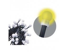 200 LED řetěz - kuličky, 20m, teplá bílá, časovač