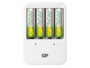 GP nabíječka baterií PB420 + 8AA + 4AAA RECYKO