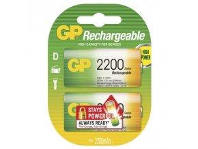Nabíjecí baterie GP NiMH 2200 HR20 (D), blistr