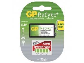 Nabíjecí baterie GP ReCyko+ 6F22 (8,4V), blistr