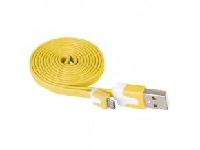 USB kabel 2.0 A/M - micro B/M 1m žlutý
