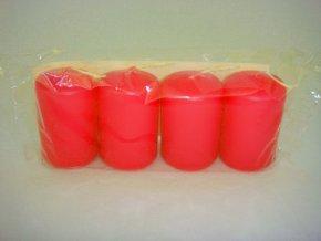 Svíčka válec 40 / 60 x 4 červená