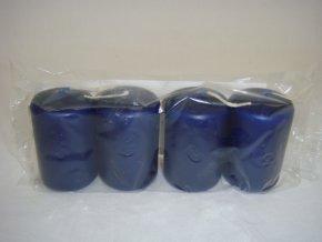 Svíčka válec 40 / 60 x 4 modrá