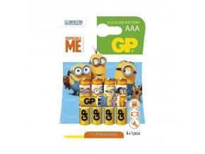 Alkalická baterie GP LR03 (AAA), limit. edice MIMONI 4+1