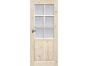 Interiérové dveře LUGANO Masiv - sklo 6S (orientace Levá, šířka křídla 60cm)