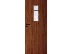 Interiérové dveře LACK 50s - Ořech (orientace Levá, šířka křídla 60cm)
