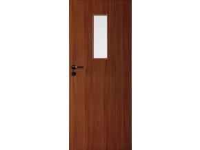 Interiérové dveře LACK 50 - Ořech (orientace Levá, šířka křídla 60cm)