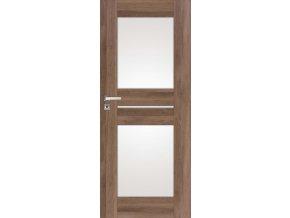 Interiérové dveře DINO 2 - Ořech (orientace Levá, šířka křídla 60cm)