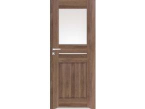 Interiérové dveře DINO 1 - Ořech (orientace Levá, šířka křídla 60cm)