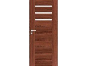 Interiérové dveře INGE 1 - Ořech (orientace Levá, šířka křídla 60cm)