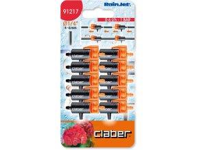 Claber 91217 - odkapávač 0-6 l/h. průběžný - 10ks balení