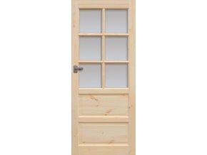 Interiérové dveře ILAWA Masiv - sklo 6S - 60 cm
